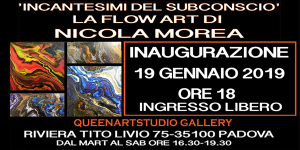 INCANTESIMI DEL SUBCONSCIO: LA FLOW ART DI NICOLA MOREA